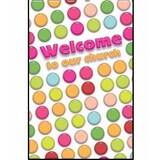 Welcome Folder-Welcome To Our Church (Kids Design) (Psalm 126:3) (Pack Of 12)